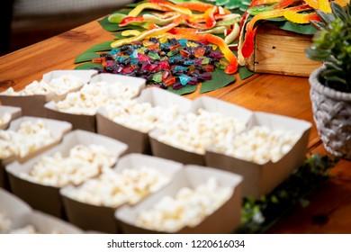 Kids Jelly snakes and Popcorn