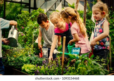 Kids learning how to farm and garden