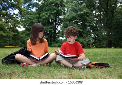 Kids learning outdoor