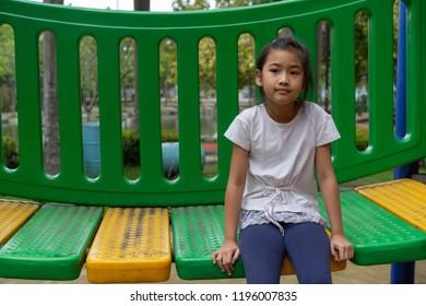 kids little girl on the playground