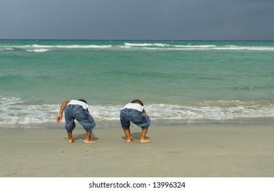 Kids Looking for Treasure