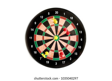 kids magnetic dart board game in white background