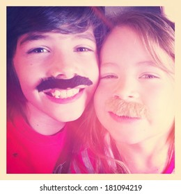 Kids with Mustaches - Instagram filter