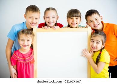 Kids near whiteboard