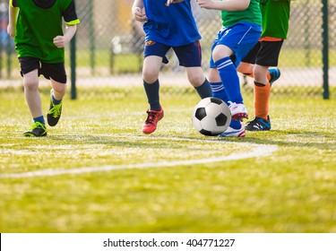 Kids play soccer football game