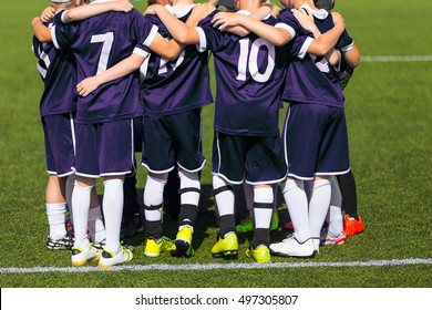 Kids Play Sports. Children Sports Team Ready to Play Game. Children Team Sport. Youth Sports For Children