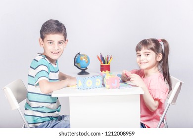 Kids playing and having fun together