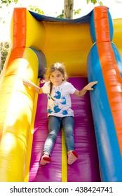 kids playing outside having fun