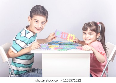 Kids playing together and having fun