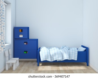 kids room Interior 3d rendering image