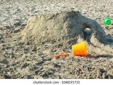 Kid's Sand Castle on Beach