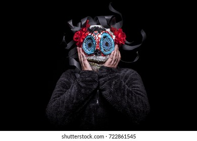 kids self made themed mask