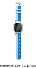 Kids smart watch isolated on white background, including clipping path