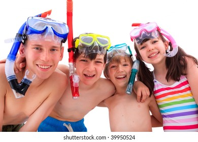 Kids with snorkels