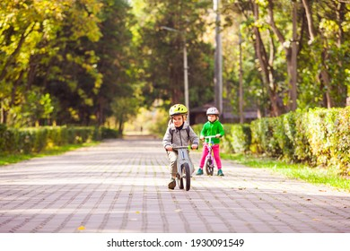 Kids striving to win while cycling competition
