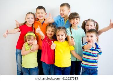 Kids thumbs up