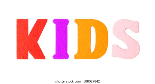 Kids Word with Wooden Letters