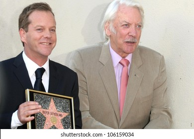 Kiefer Sutherland and Donald Sutherland   at the Ceremony Honoring Kiefer Sutherland with the 2,377th Star on the Hollywood Walk of Fame. Hollywood Boulevard, Hollywood, CA. 12-09-08