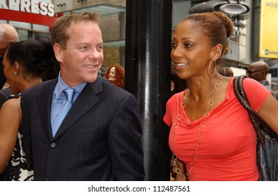 Kiefer Sutherland and Holly Robinson Peete at the ceremony honoring Forest Whitaker with the 2,335th Star on the Hollywood Walk of Fame. Hollywood Boulevard, Hollywood, CA. 04-16-07