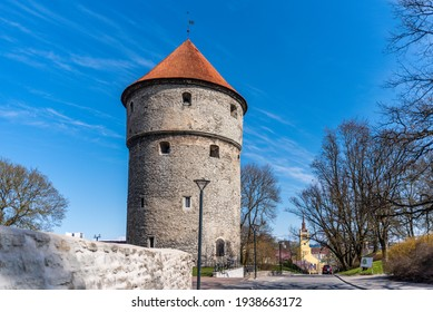 Kiek-In-De-Kok artillery tower in Tallinn, Estonia at sunny spring day