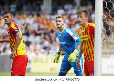 KIEKLCE, POLAND - JULY 28, 2019: Polish Premier Football League Korona Kielce - Legia Warszawa o/p Pawel Sokol