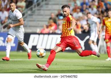 KIEKLCE, POLAND - JULY 28, 2019: Polish Premier Football League Korona Kielce - Legia Warszawa o/p Ivan Marquez Alvarez