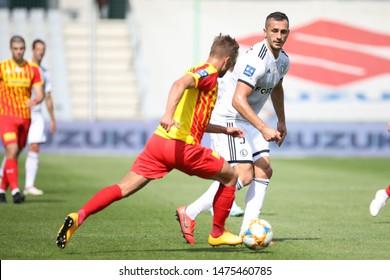 KIEKLCE, POLAND - JULY 28, 2019: Polish Premier Football League Korona Kielce - Legia Warszawa o/p Tomasz Jodlowiec