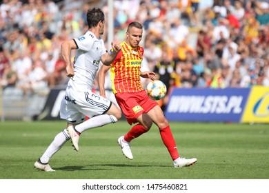 KIEKLCE, POLAND - JULY 28, 2019: Polish Premier Football League Korona Kielce - Legia Warszawa o/p Marcin Cebula