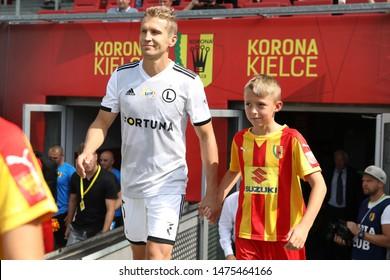 KIEKLCE, POLAND - JULY 28, 2019: Polish Premier Football League Korona Kielce - Legia Warszawa o/p Igor Lewczuk