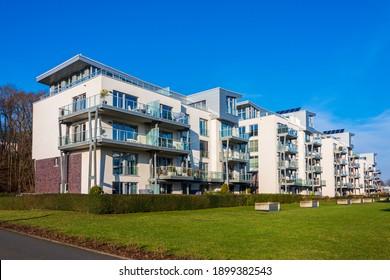 Kiel, Germany, January 17, 2021 - Impressions from the new Kiel development area in Kiel-Holtenau on the former MFG5 site of the German Navy