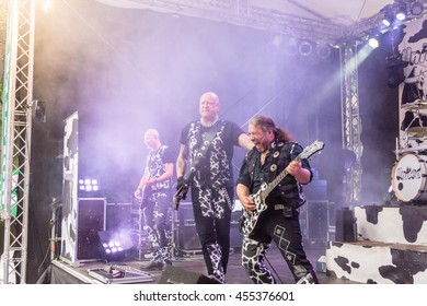 Kiel, Germany - June 24th 2016: The Band United Four plays during the Kieler Week 2016