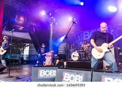 "Kiel, Germany - June 24th 2019: The Band ""Ugly Kid Joe"" is performing in the Radio BOB! Rock Camp"