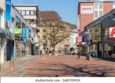 Kiel, Germany, March 28, 2020 - Corona pandemic. An almost human-sized city. You could not have imagined something like this recently.