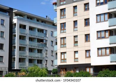 Kielce, Świętokrzyskie, Poland - 2020-08-13 - New residential buildings next to each other