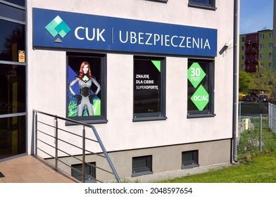 Kielce, Świętokrzyskie, Poland - 2021-05-09 - Building Cuk Insurance in Poland