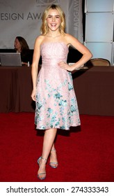 Kiernan Shipka at the 19th Annual Art Directors Guild Excellence In Production Design Awards held at the Beverly Hilton Hotel in Beverly Hills on January 31, 2015.
