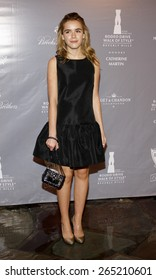 Kiernan Shipka at the Rodeo Drive Walk Of Style honors Catherine Martin held at the Greystone Mansion in Los Angeles, United States, 02/28/2014.
