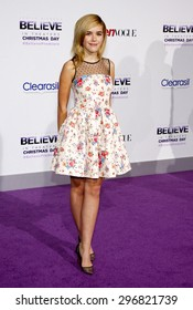 """Kiernan Shipka at the World premiere of """"Justin Bieber's Believe"""" held at the Regal Cinemas L.A. Live in Los Angeles on December 18, 2013 in Los Angeles, California."""