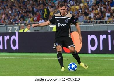 KIEV - AUG 28, 2018: Maximilian Weber 5,  Dynamo Kyiv - Ajax Amsterdam, UEFA Champions League'19, 3rd qualify round, 2nd leg.