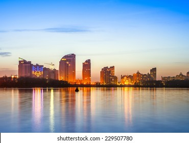 Kiev city skyline by night
