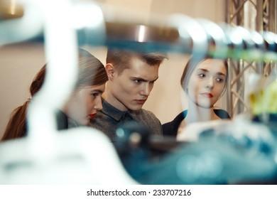 KIEV FASHION DAYS F/W 2014, Kiev, Ukraine - March 29, 2014: Models Backstage.
