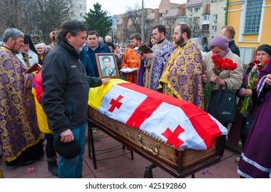 KIEV (KYIV), UKRAINE -March 22, 2016:The funeral of Ukrainian journalist Georgiy Gongadze