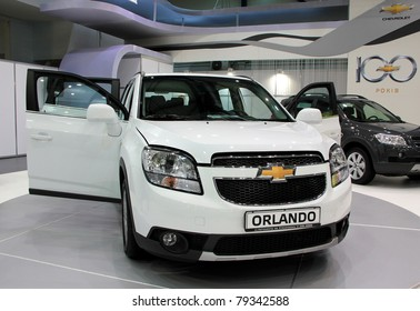 "KIEV - MAY 26: Chevrolet Orlando at yearly automotive-show ""SIA 2011"". May 26, 2011 in Kiev, Ukraine."
