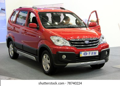 "KIEV - MAY 26: FAW at yearly automotive-show ""SIA 2011"". May 26, 2011 in Kiev, Ukraine."