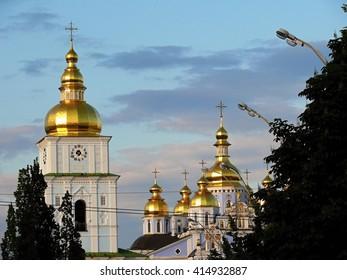 Kiev. Michael's Square. Church.