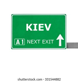 KIEV road sign isolated on white