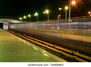Kiev subway in motion