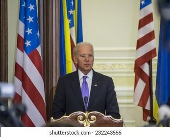 KIEV, UKRAIN - November 21, 2014: Vice President Joseph Biden