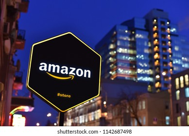 Kiev / Ukraine - 01.22.18: Sign of Amazon Store