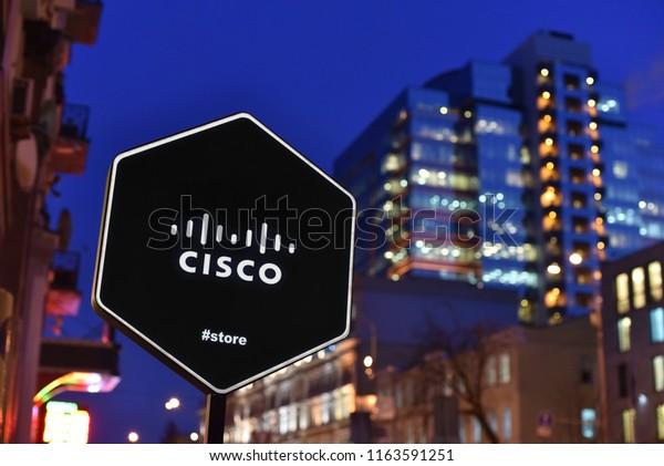 Kiev Ukraine 012218 Sign Cisco Store Stock Photo (Edit Now